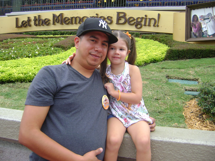 Valerie and Daddy at Disneyworld